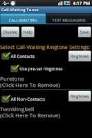 Screenshot of Call Waiting Ringtones free