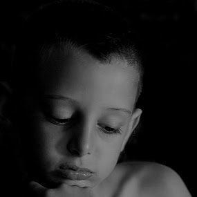 Pensive by Kylie Rogers - Babies & Children Child Portraits