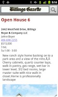 Screenshot of Billings Gazette Open Houses
