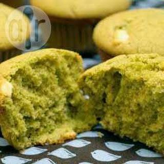 Green Tea and White Chocolate Muffins.