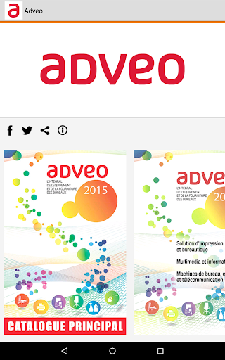 Adveo France - Catalogue 2015