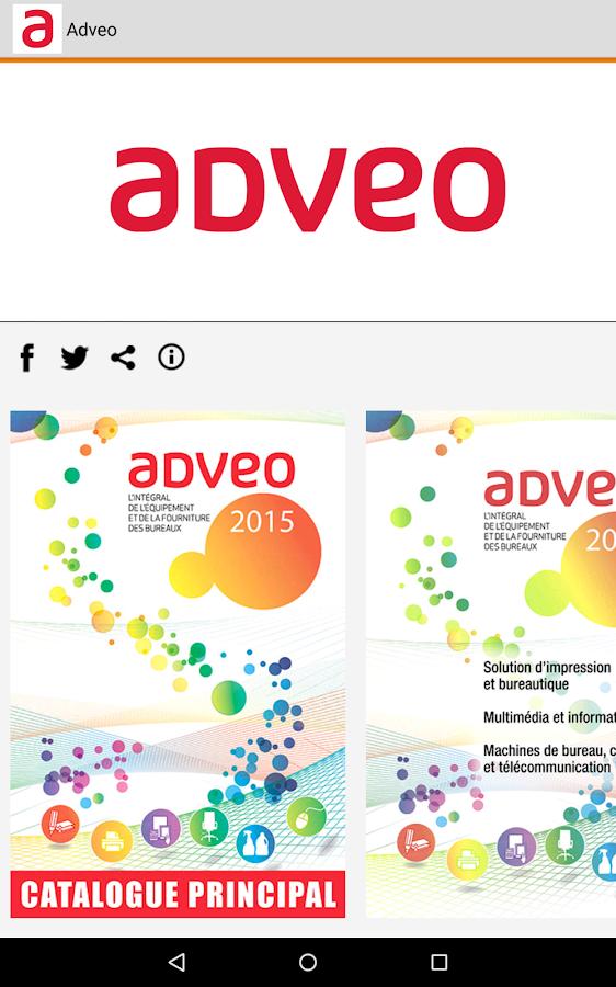 Adveo france catalogue 2016 applications android sur for Bureau plus catalogue 2016