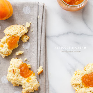 Apricots and Cream Thumbprint Scones