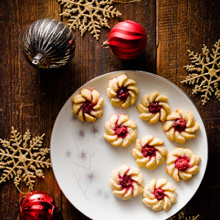 Cherry Vanilla Cream Cheese Spritz Cookies Recipe