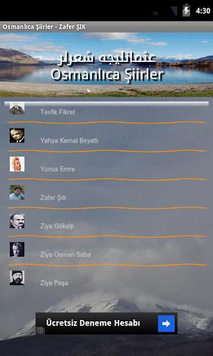 Osmanlıca Şiirler