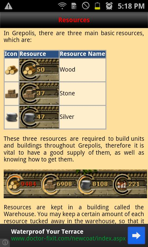 Grepolis userguide - screenshot