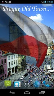 3D Czech Flag Live Wallpaper + - screenshot thumbnail
