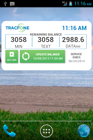 TracFone My Account - screenshot