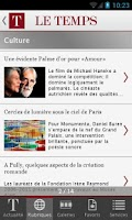 Screenshot of Le Temps