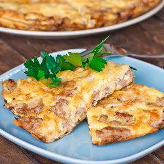 Mushroom and Sausage Omelette