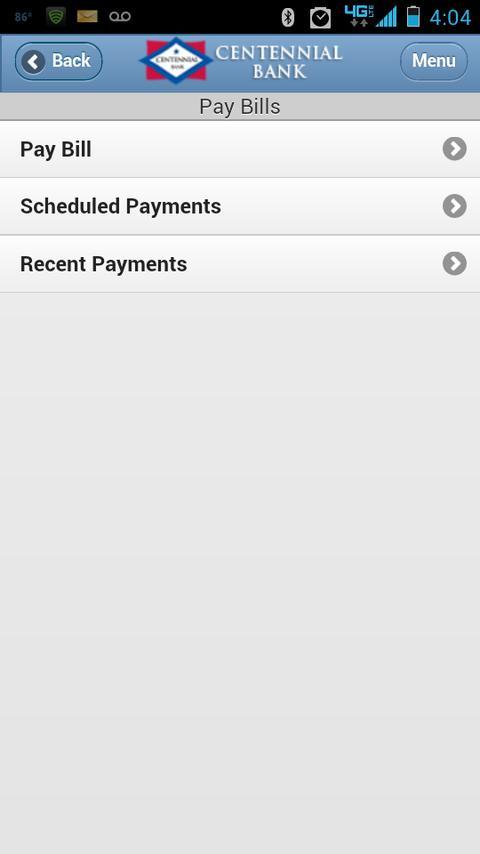 Centennial Bank Mobile- screenshot