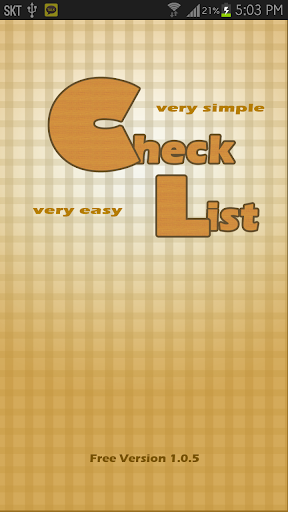 Very easy Check List