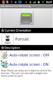 AutoRotate On/Off Toggle - screenshot thumbnail