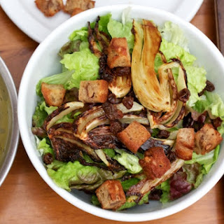 Fennel & Raisin Salad with Walnut Croutons