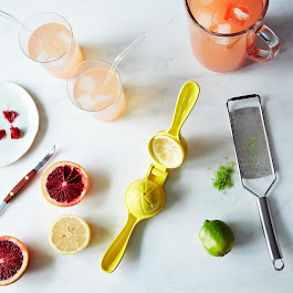 Citrus Juicer, Microplane, and Grapefruit Knife