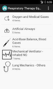 Respiratory Therapy Equations screenshot for Android