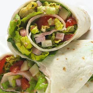 Antipasto Salad Wraps.