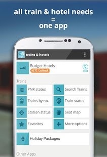 indian rail train info hotels- screenshot thumbnail