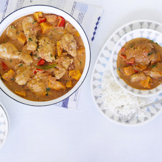 Spicy African chicken stew.