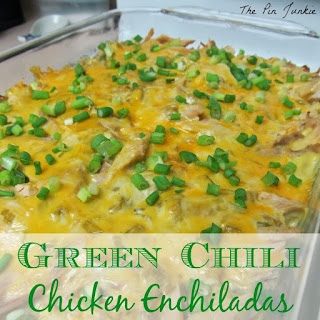 Green Chile Chicken Enchilada Casserole.