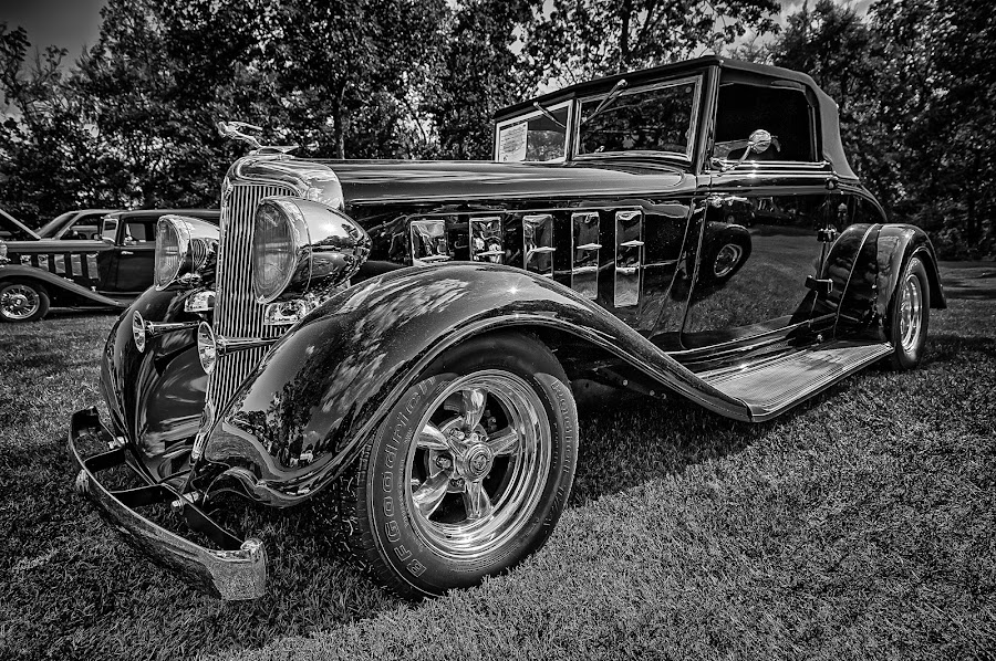 Classic Sedan by Ron Meyers - Black & White Objects & Still Life