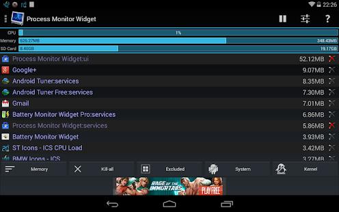 Process Monitor Widget