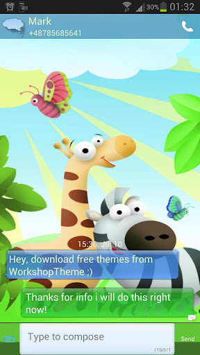 GO SMS Pro Theme animals Buy