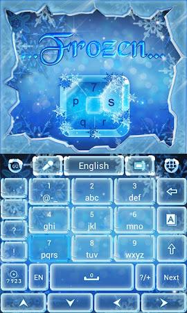 Frozen GO Keyboard Theme 3.87 screenshot 636203