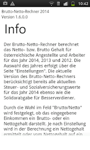 Brutto Netto Rechner 2014 - screenshot thumbnail