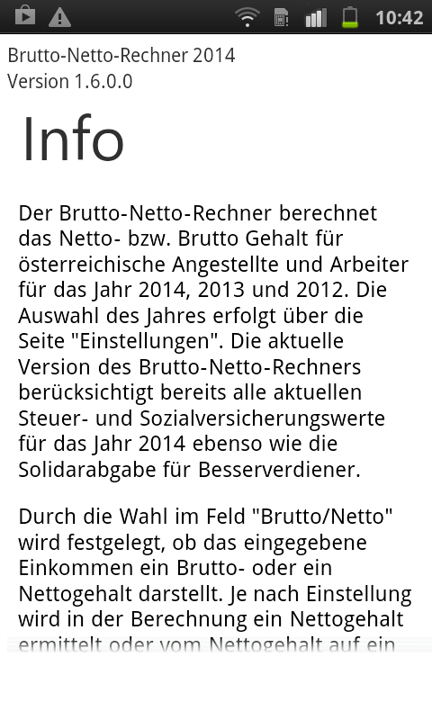 Brutto Netto Rechner 2014 - screenshot