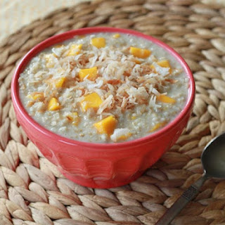 Creamy Steel Cut Mango Coconut Oatmeal