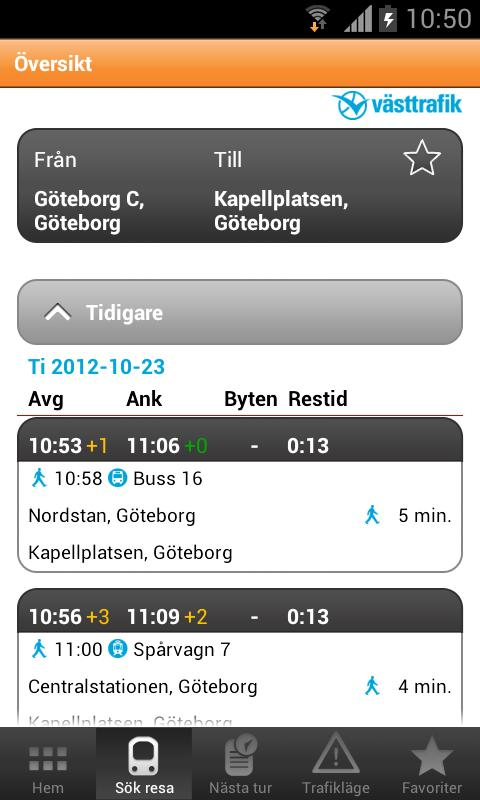 Travel planner - screenshot
