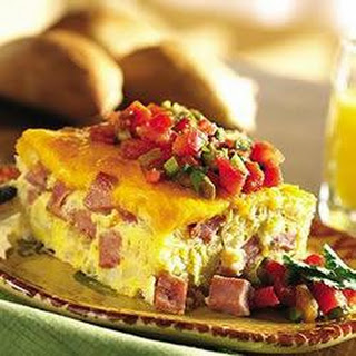 Ham and Cheese Baked Frittata.
