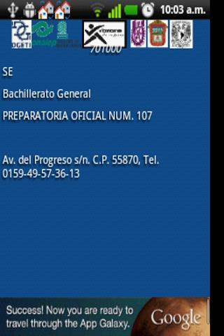 Escuelas México COMIPEMS - screenshot