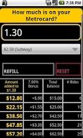 Screenshot of Refill My Metrocard!