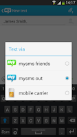 Screenshot of Websms - mysms out Connector