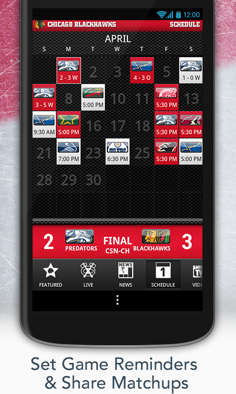 Chicago Blackhawks (Official) - screenshot
