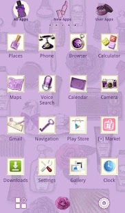 Cute Theme Radiant Lavender- screenshot thumbnail
