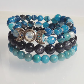 Moon Gemstone Memory Bracelet by Janet Skoyles - Artistic Objects Jewelry (  )