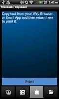 Screenshot of Xerox PrintBack