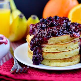 Orange Pancakes with Berry-Orange Sauce.
