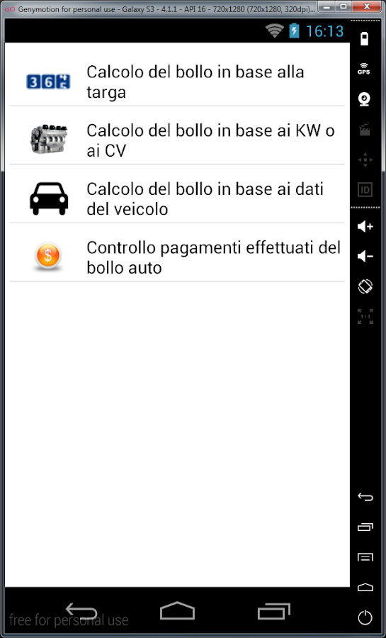 Bollo auto- screenshot
