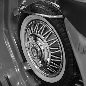 Vintage Scooter by Christine Schmidt - Black & White Objects & Still Life ( vintage, leica, scooter )