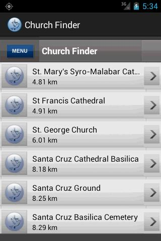 Church Finder - screenshot