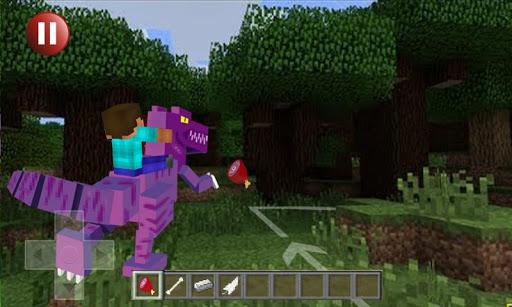 Dino Rider - Minecraft Style