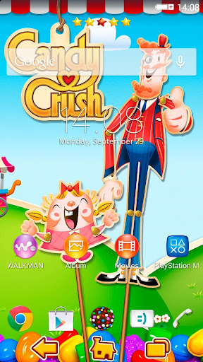 Xperia Theme Candy Crush