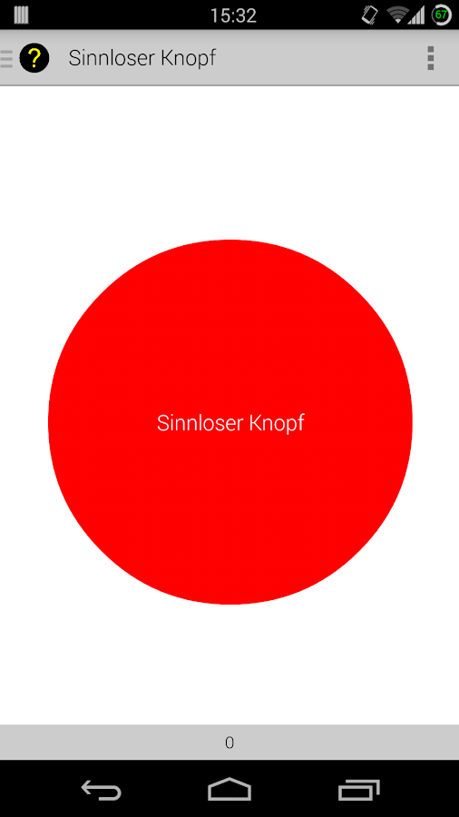 Sinnloser Knopf - screenshot