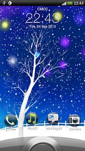 浪漫雪景動態壁紙