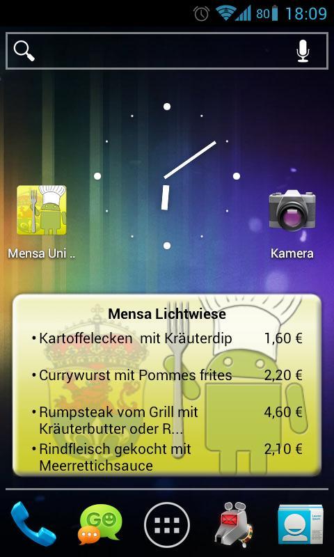 Mensa Darmstadt - screenshot