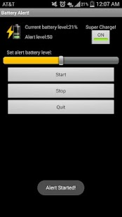 Battery Charge Alert - screenshot thumbnail